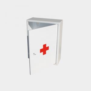 Шкаф-аптечка металическая белая