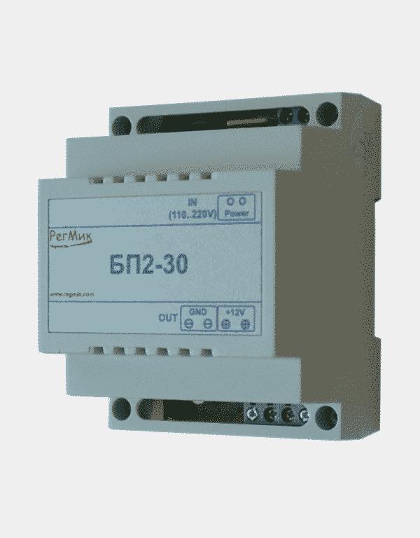 Импульсный блок питания БП2-30 12в , мощность 30 Вт вид с боку