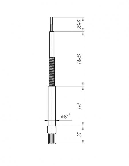 Датчик влажности и температуры цифровой Модификация ДВТц-101 чертёж