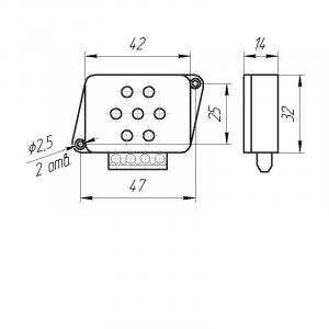 Датчик влажности и температуры цифровой Модификация ДВТц-302 чертёж