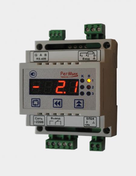 Регулятор двухпозиционный двухканальный (РД1) Д4 (вид з боку), измеряет: температуры, влажности, давления различных объектов
