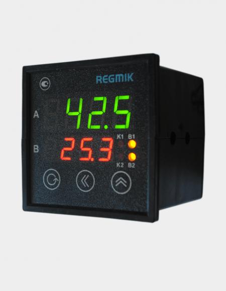 ПИД регулятор двухканальный (РП2-Щ) с дискретным выходом вид сбоку