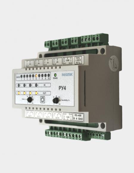 Регулятор уровня четырехканальный (РУ4-03) вид сбоку