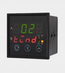 ПИД регулятор двухканальный с аналоговыми выходами щитовой (РП2) с двумя индикаторами вид сбоку