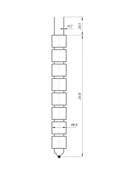 Чертёж датчика температуры (Модификация 210)