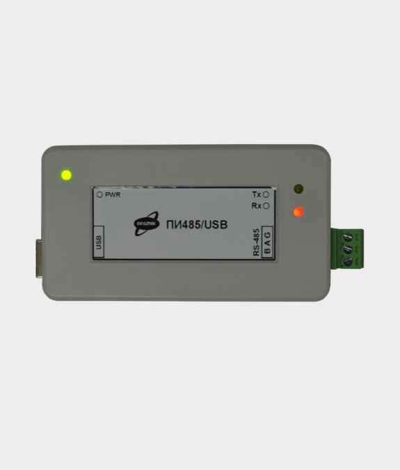 Преобразователь интерфейсов (ПИ) RS485/USB вид сверху