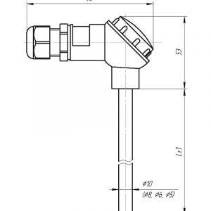 Чертеж датчика температуры (Модификация 001)