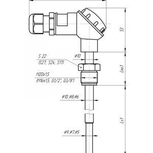 Чертеж датчика температуры (Модификация 003)