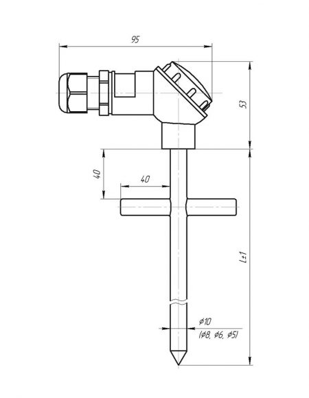 Чертеж датчика температуры (Модификация 004)