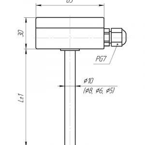 Чертеж датчика температуры (Модификация 011)