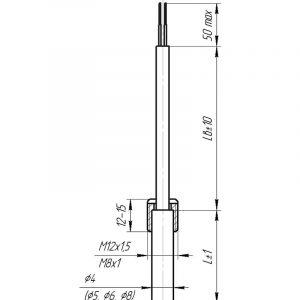 Чертеж датчика температуры (Модификация 103)