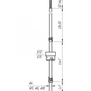 Чертеж датчика температуры (Модификация 108)