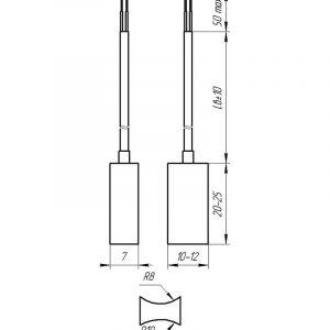 Чертеж датчика температуры (Модификация 204Р)