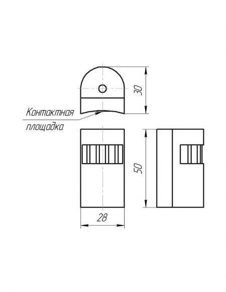 Чертеж датчика температуры (Модификация 207)