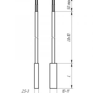 Чертеж датчика температуры (Модификация 209)