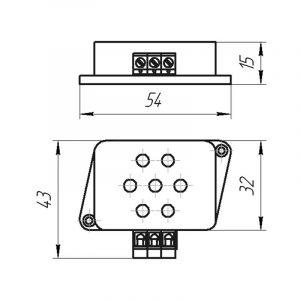 Чертеж датчика температуры (Модификация 302)