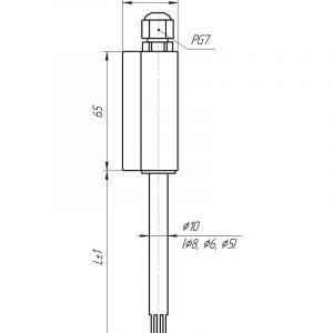 Чертеж датчика температуры (Модификация 303П)