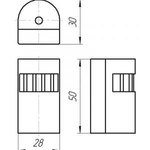 Чертеж датчика температуры (Модификация 307)