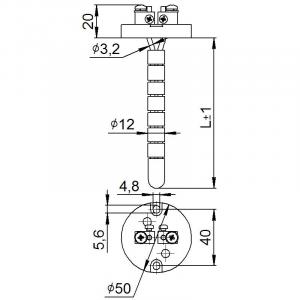Чертёж датчика температуры (Модификация 210К)